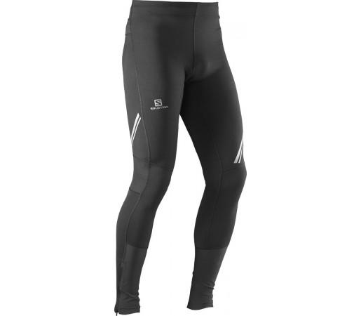 Pantaloni alergare Salomon Agile Long Tight M Black Negru
