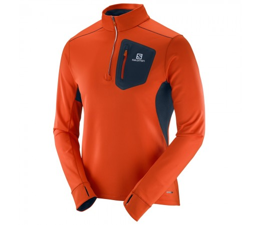Bluza Salomon M Trail Runner Portocalie