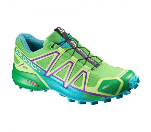 Incaltaminte alergare Salomon Speedcross 4 CS W Verde/Albastru