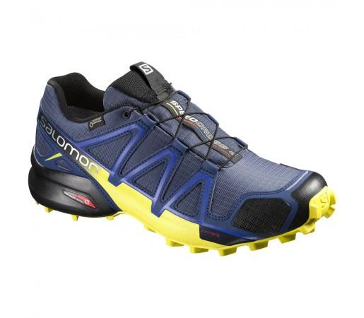 Incaltaminte alergare Salomon Speedcross 4 GTX M Albastru/Galben