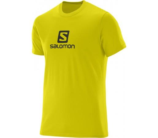 Tricou Salomon Logo SS Cotton Tee M Galben