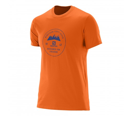 Tricou Salomon Mount Sign SS Cotton Tee M Portocaliu