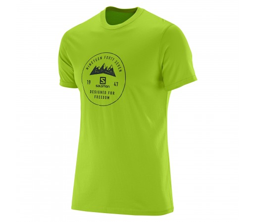 Tricou Salomon Mount Sign SS Cotton Tee M Verde
