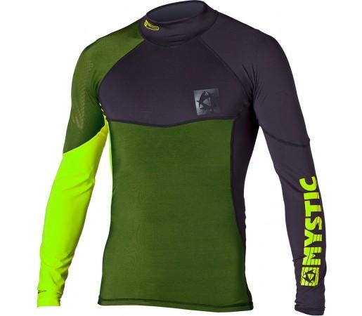 Bluza cu protectie UV Mystic Crossfire Rashvest LS Verde