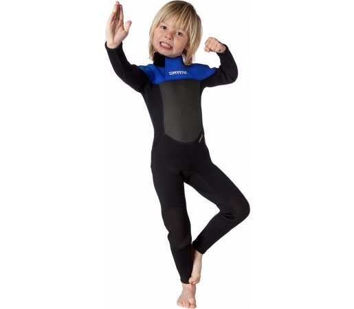 Costum de neopren copii Mystic Star 3/2 D/L Fullsuit Flatlock Albastru