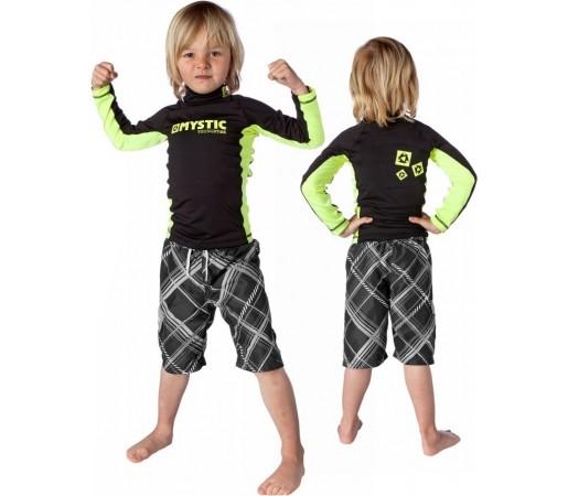 Bluza cu protectie UV Mystic Star Vest Kid LS Neagra