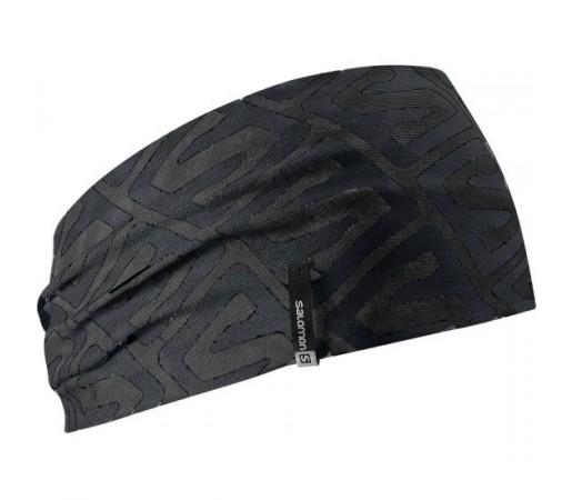 Bandana Slomon Headband Neagra/Argintie