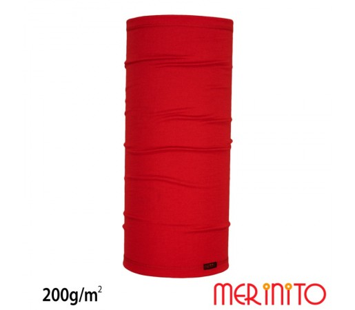 Neck Tube Merinito 200g/mp Rosu