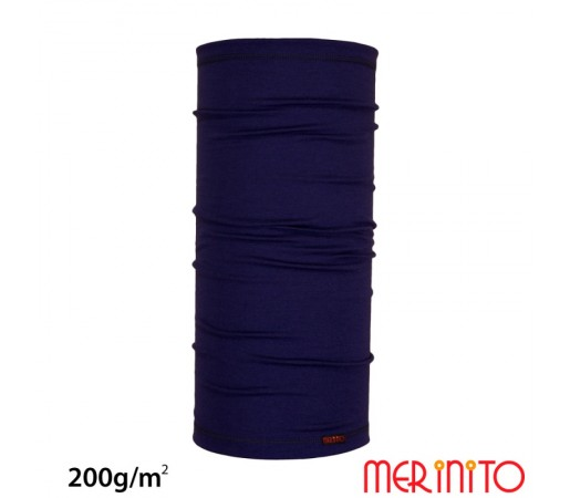 Neck Tube Merinito 200g/mp Albastru