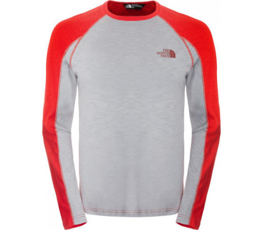 Bluza The North Face M L/S Glossary Rosu/Gri
