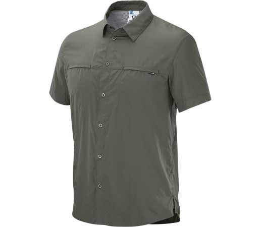 Camasa Salomon Radiant SS Shirt M Gri/Verde