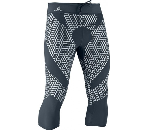 Pantaloni Compresie Salomon EXO 3/4 TIGHT M Grey- Silver