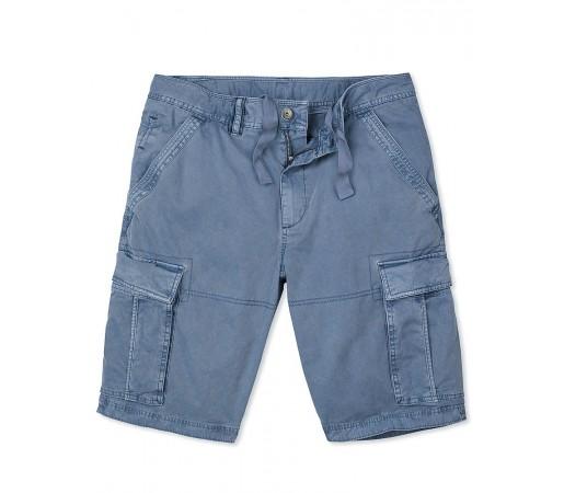 Pantaloni scurti Crew Clothing Garment Dye Cargo Albastri