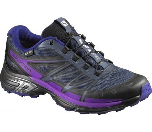 Incaltaminte Alergare Salomon Wings Pro 2 Gore-Tex Negru/Mov