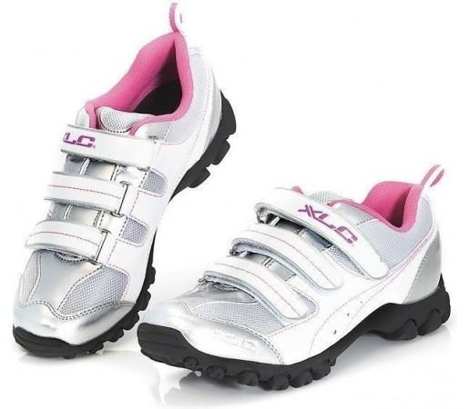 Pantofi ciclism XLC White- Pink