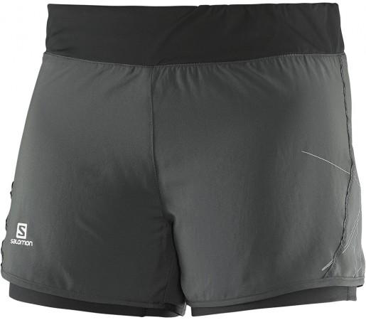 Pantaloni scurti Salomon Park 2in1 Short W Gri/Negru