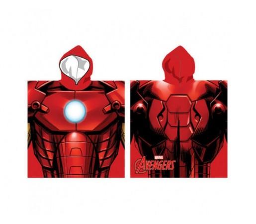 Poncho Marvel Avengers Iron Man Rosu