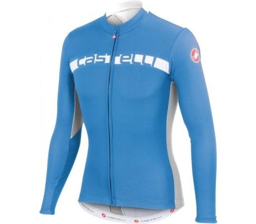 Bluza ciclism Castelli Prologo 4 Albastru