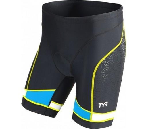 "Costum Triatlon Tyr Competitor 7"" Negru/ Lime/ Albastru"