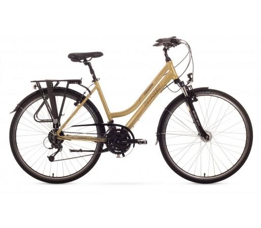Bicicleta trekking Romet Gazela 4.0 Bej