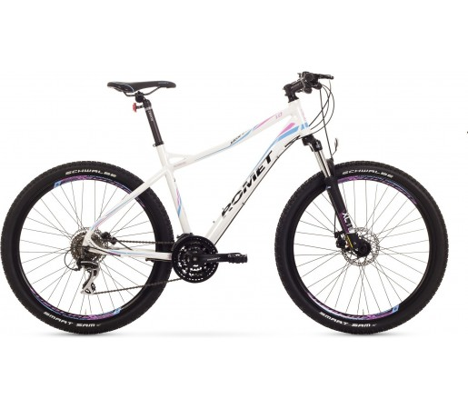 Bicicleta de munte Romet Jolene 27.5 1.0 Alb/Roz/Albastru