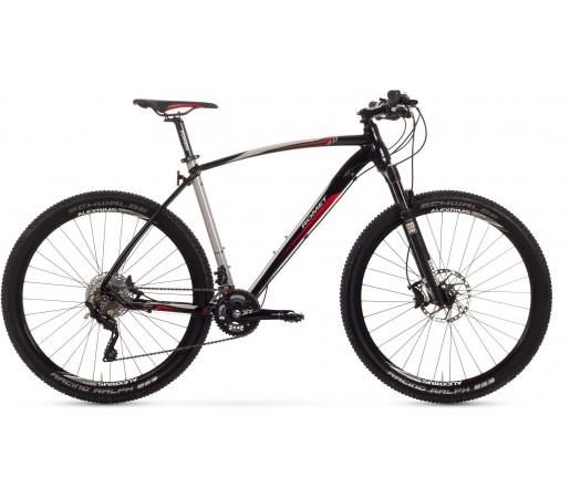 Bicicleta de munte Romet Mustang R-Line 27.5 2.0 Crom/Negru/Rosu