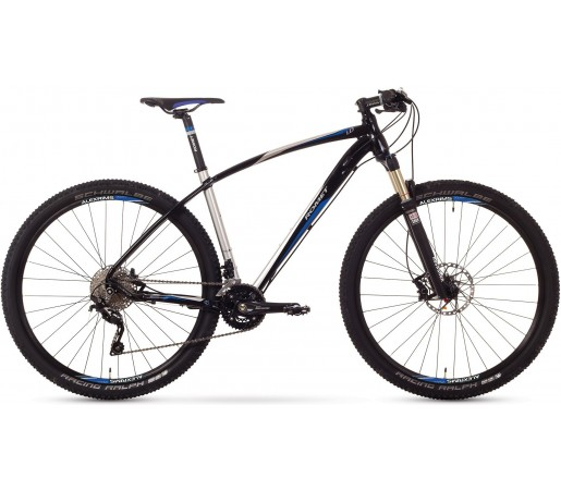 Bicicleta de munte Romet Mustang R-Line 29 1.0 Crom/Negru/Albastru