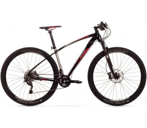 Bicicleta de munte Romet Mustang R-Line 29 2.0 Crom/Negru/Rosu
