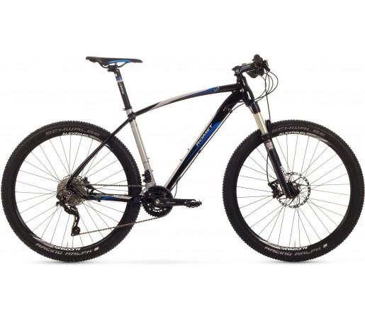 Bicicleta de munte Romet Mustang R-Line 27.5 1.0 Crom/Negru/Albastru