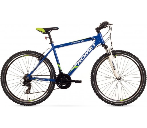 Bicicleta de munte Romet Rambler 26 1.0 Albastru/Verde