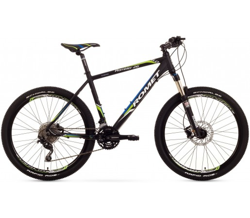 Bicicleta de munte Romet Rambler 26 6.0 Negru/Albastru/Verde