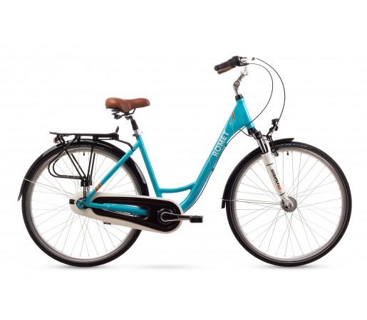Bicicleta oras Romet Art Deco 7 Turcoaz 2016