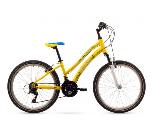 Bicicleta copii Romet Basia Galbena 2016