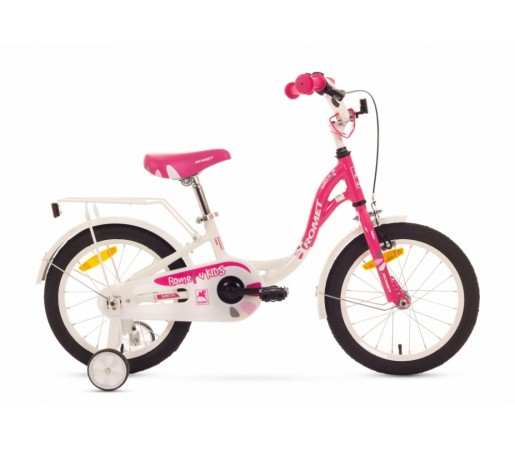 Bicicleta copii Romet Diana S 16 Alb/Roz 2016