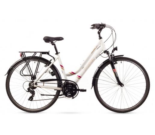 Bicicleta trekking Romet Gazela 1 Alba 2016