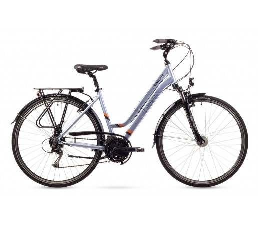 Bicicleta trekking Romet Gazela 4 Albastra 2016