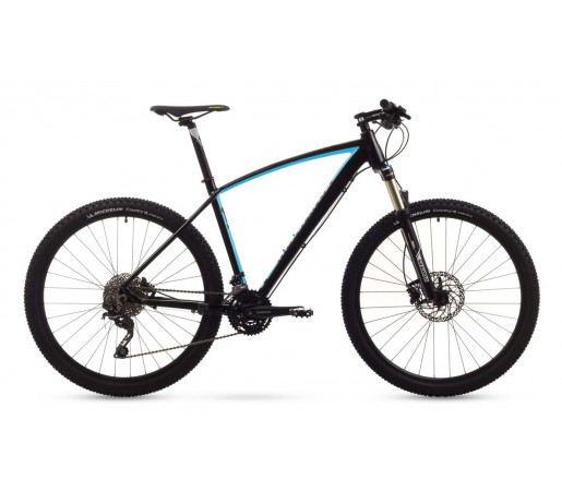 Bicicleta de munte Romet Mustang 27.5 1 Negru/Albastru 2016