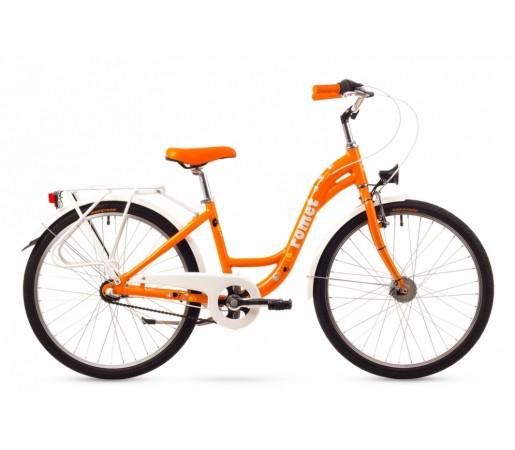 Bicicleta copii Romet Panda 24 Lux Portocalie 2016