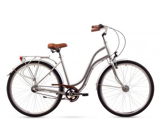 Bicicleta oras Romet Pop Art 26 Argintie 2016