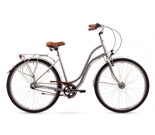Bicicleta oras Romet Pop Art Argintie 2016