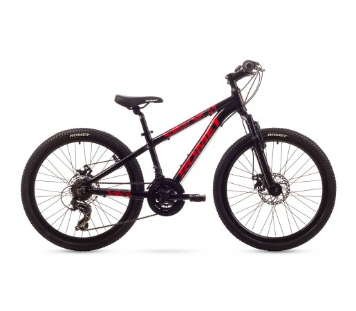 Bicicleta copii Romet Rambler Dirt 24 Neagra 2016
