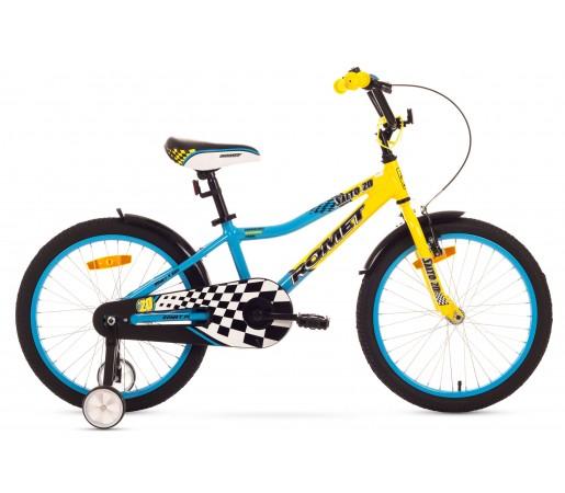 Bicicleta copii Romet Salto 20 Albastru/Galben 2016