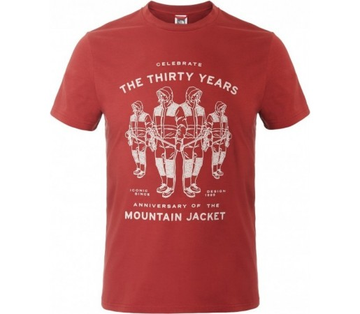 Tricou The North Face M S/S Mountain Celebration Rosu