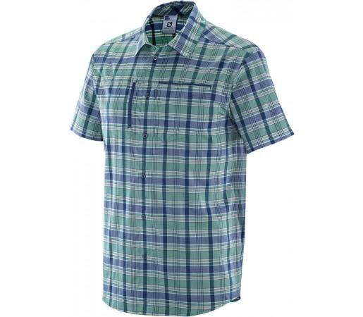 Camasa Salomon Royan SS Shirt M Verde/Albastru Inchis