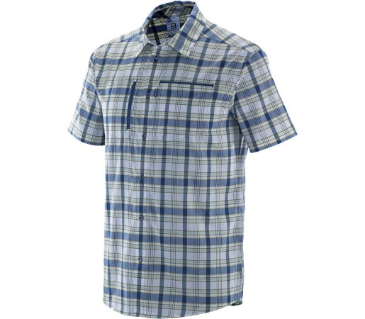Camasa Salomon Royan SS Shirt M Albastru Inchis/Galben