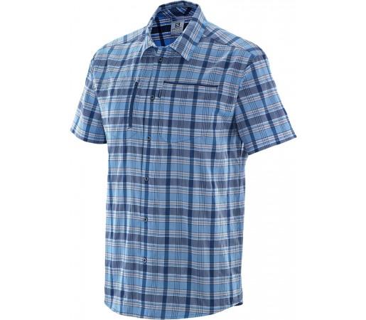 Camasa Salomon Royan SS Shirt M Albastru Deschis/Albastru Inchis