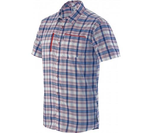 Camasa Salomon Royan SS Shirt M Alb/Rosu/Albastru