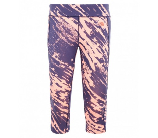 Pantaloni The North Face W Pulse Capri Albastru/Roz