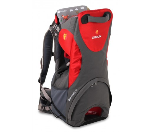Rucsac transport copii Cross Country S3 Little Life Rosu/Gri