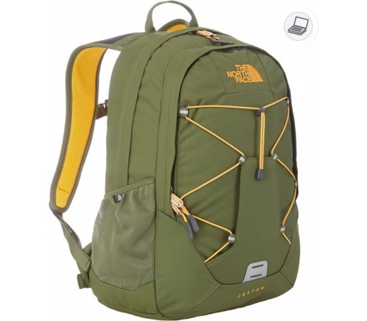 Rucsac The North Face Jester Verde/Portocaliu